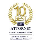 10 Best Attorney 2017 American Institute of Personal Injury Attorneys