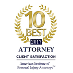 10 Best Attorney 2017 American Institute of Personal Injury Attorneys